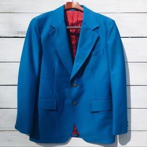 Vintage 1970s Blue Blazer, Image Wear, 40